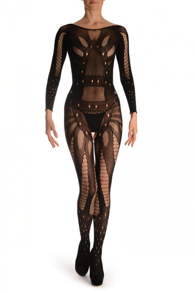 Black Space Warrior Luxurious Bodystocking