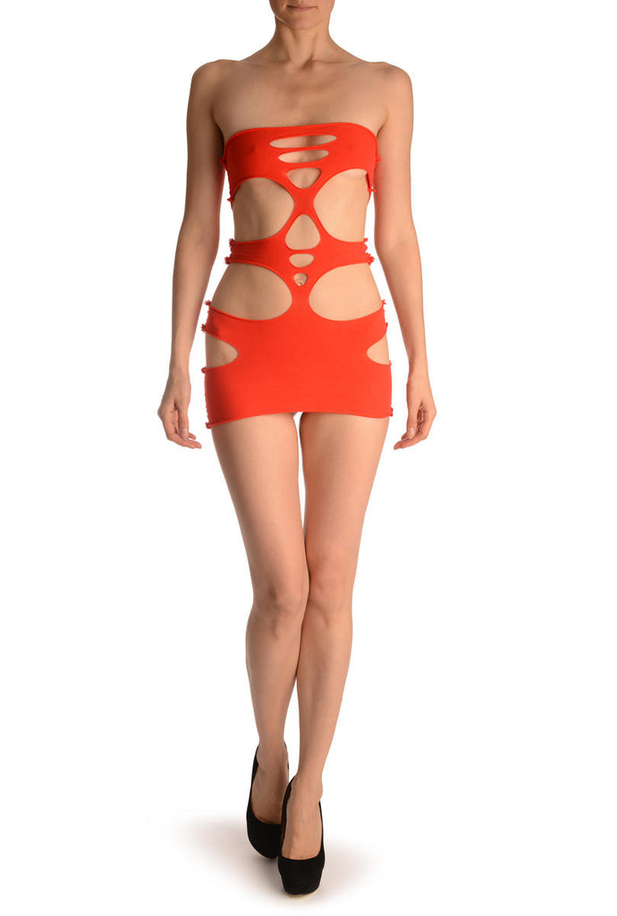 Red Fifth Element Mini Dress (Bodystocking)