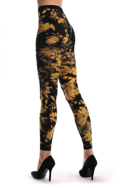 Black & Yellow Colour Splash (Tie Dye) Footless