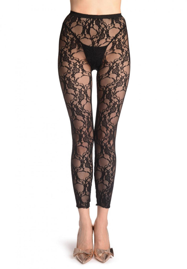 Floral Stretchy Lace Footless