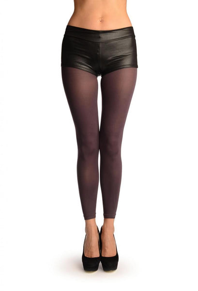 Dark Purple 120 Denier (Winter) Footless Tights