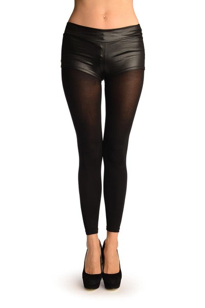 Black 120 Denier (Winter) Footless Tights