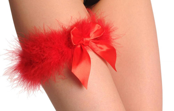 Red Marabou Feather With Red Satin Bow