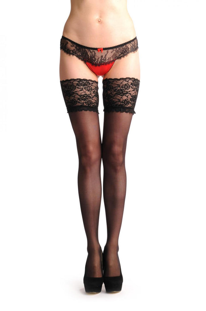 Black Sheer With Wide Luxury Floral Lace