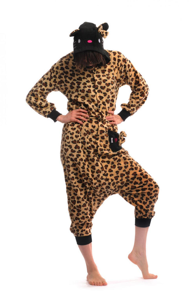 Leopard Kitty - Unisex Onesies Fun Party Wear For Him or Her