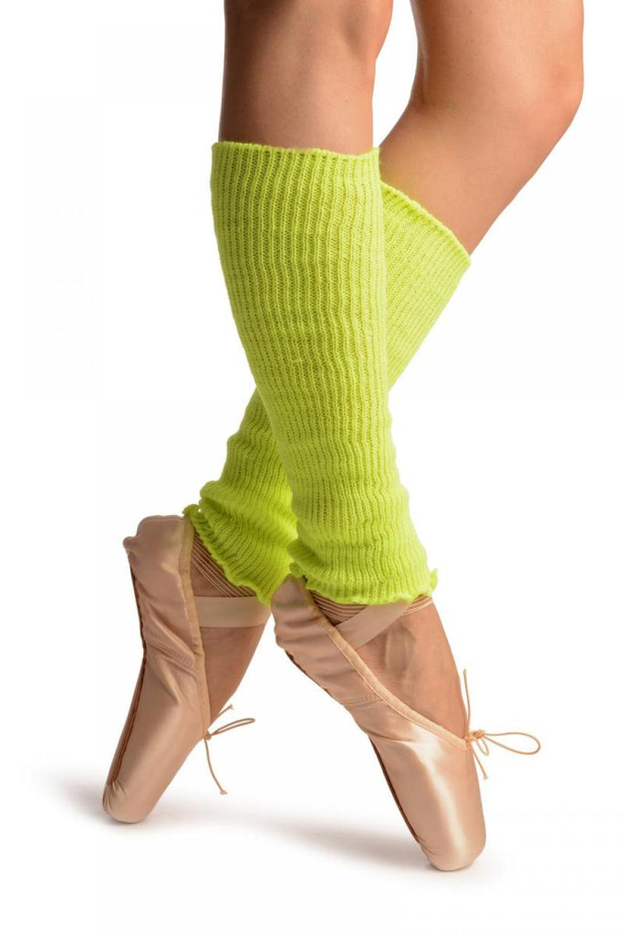 Neon Yellow Dance/Ballet Leg or Arm Warmers