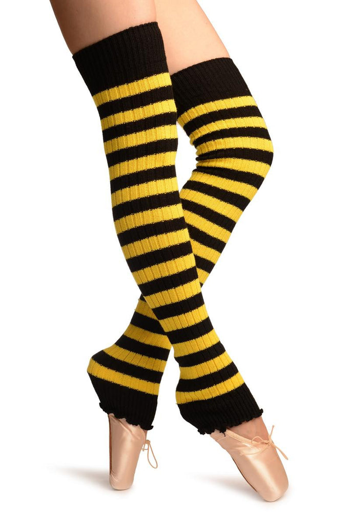 Yellow & Black Stripes Dance/Ballet Leg Warmers
