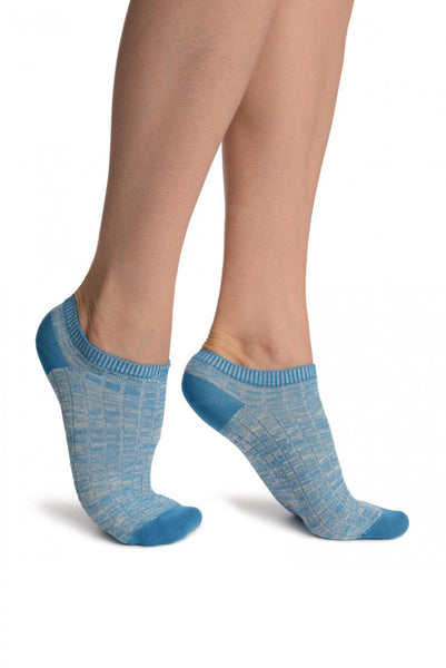 Blue Melange Footies