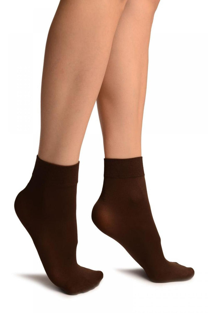 Brown Comfort Top Strong Ankle High Socks