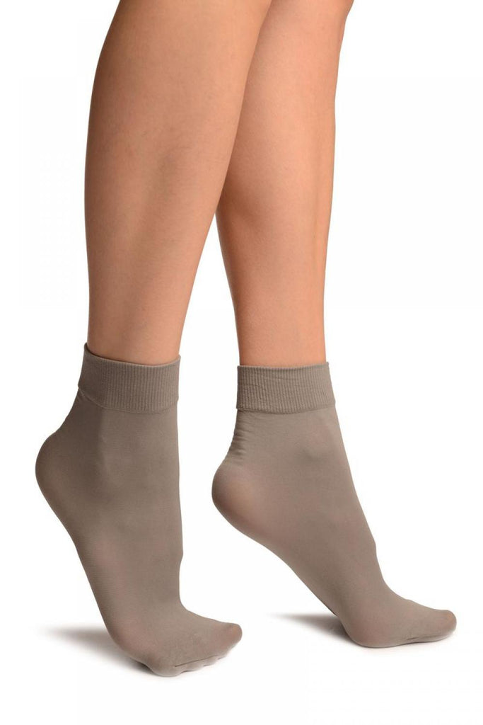 Grey Comfort Top Strong Ankle High Socks