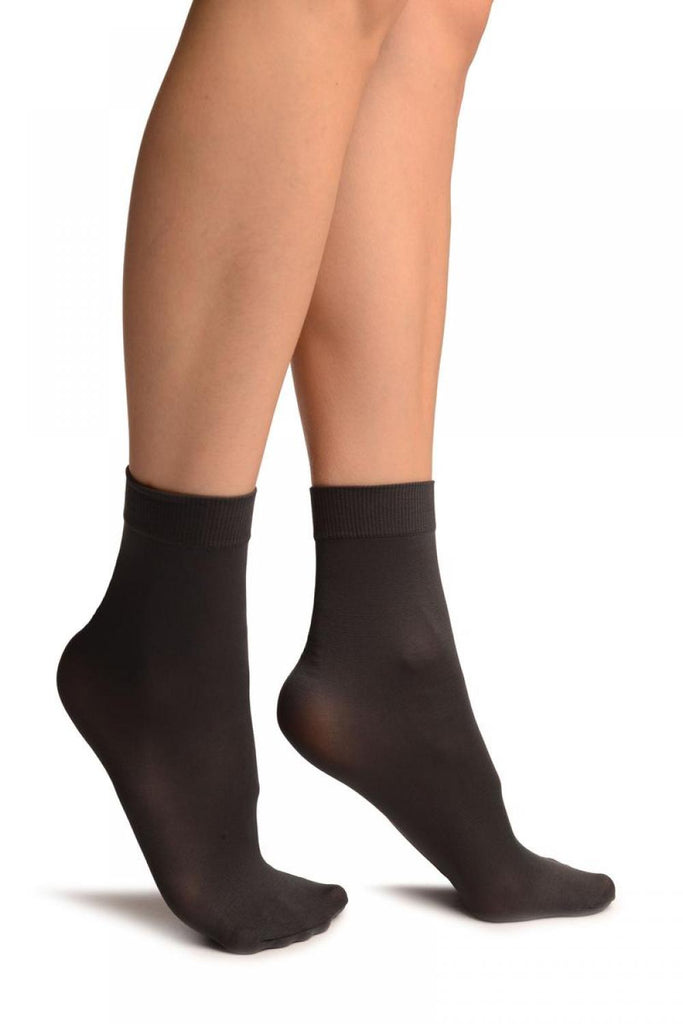 Dark Grey Comfort Top Strong Ankle High Socks