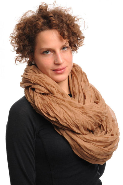 Mocha Soft Snood Scarf
