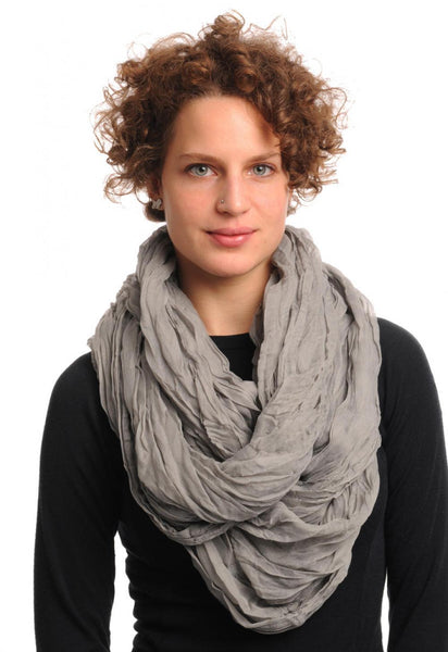 Grey Soft Snood Scarf