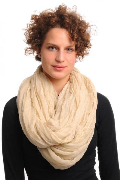 Linen Summer Soft Snood Scarf