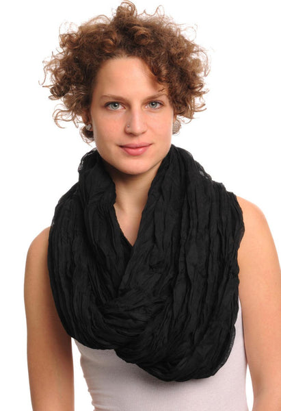 Luxurious Black Snood Scarf