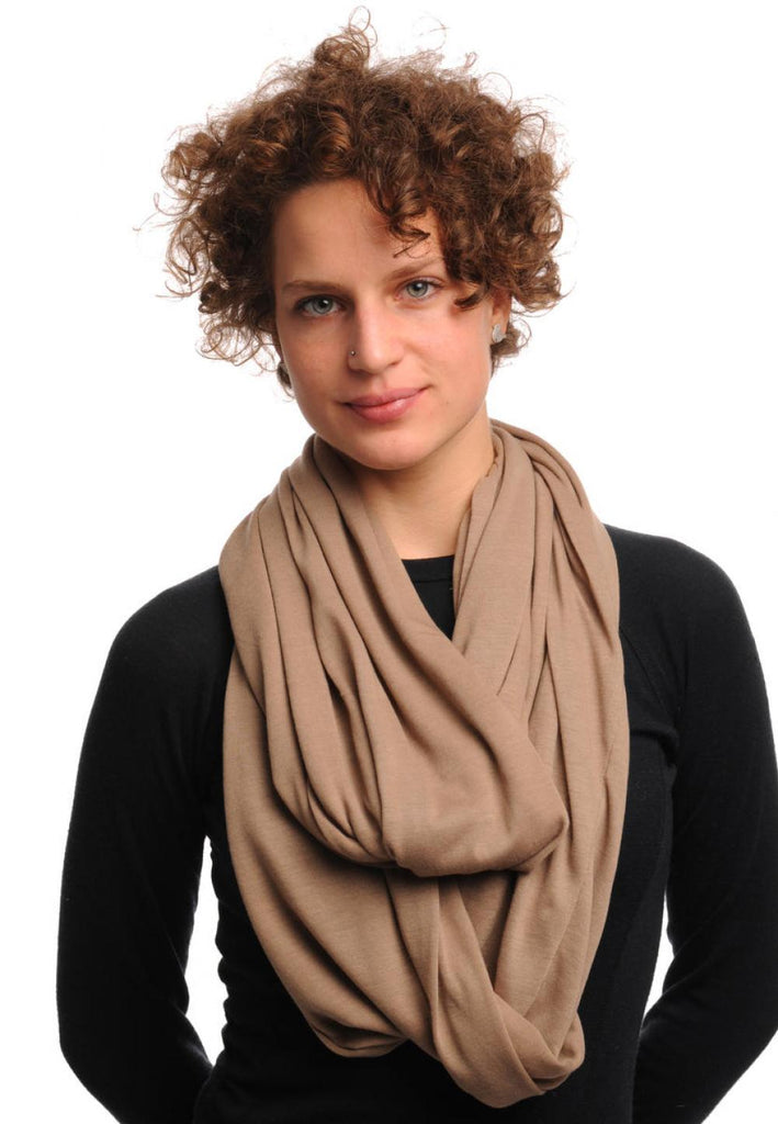 Linen Grey Soft Cotton Snood Scarf