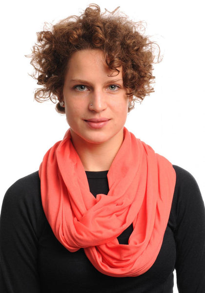 Coral Soft Cotton Snood Scarf