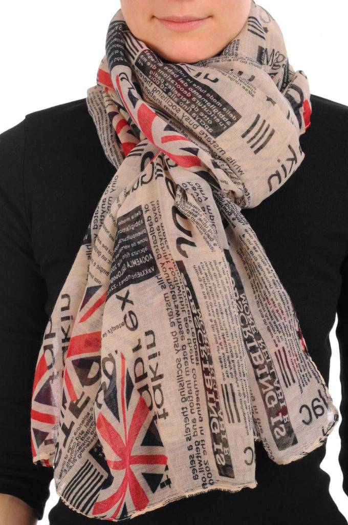British Flag & Bar Code Unisex Scarf & Beach Sarong