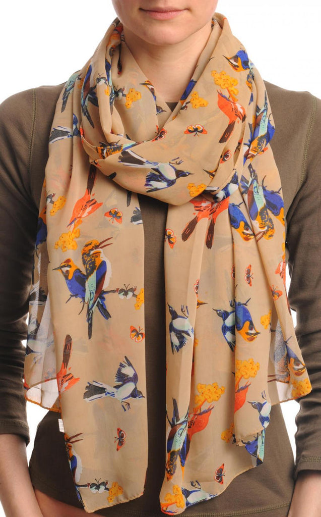 Colourful Birds on Mocha