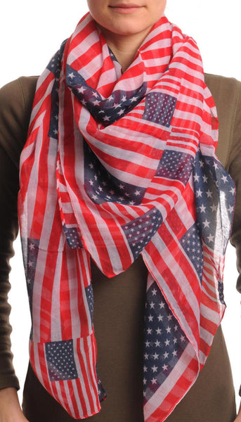 American Flag Square Unisex Scarf & Beach Sarong