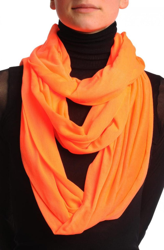 Fluorescent Orange Two Or Three Loops Snood