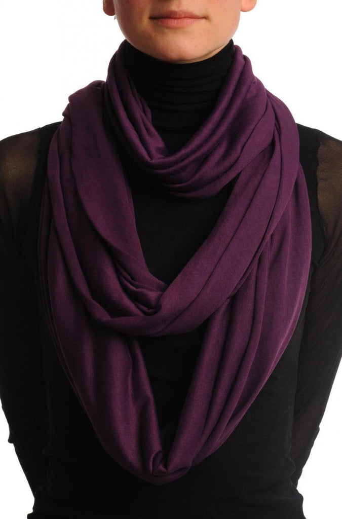 Purple Two Or Three Loops Snood