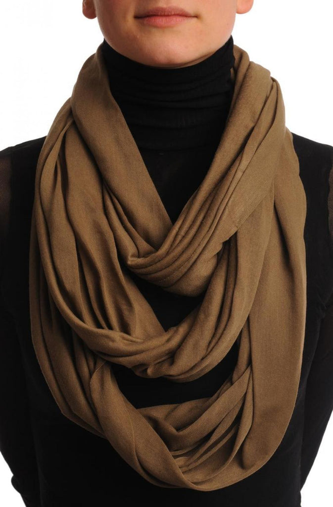 Khaki Two Or Three Loops Snood