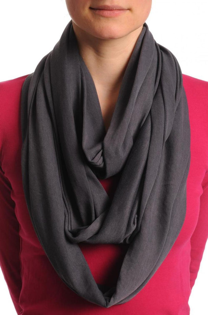 Grey Blue Two Or Three Loops Snood