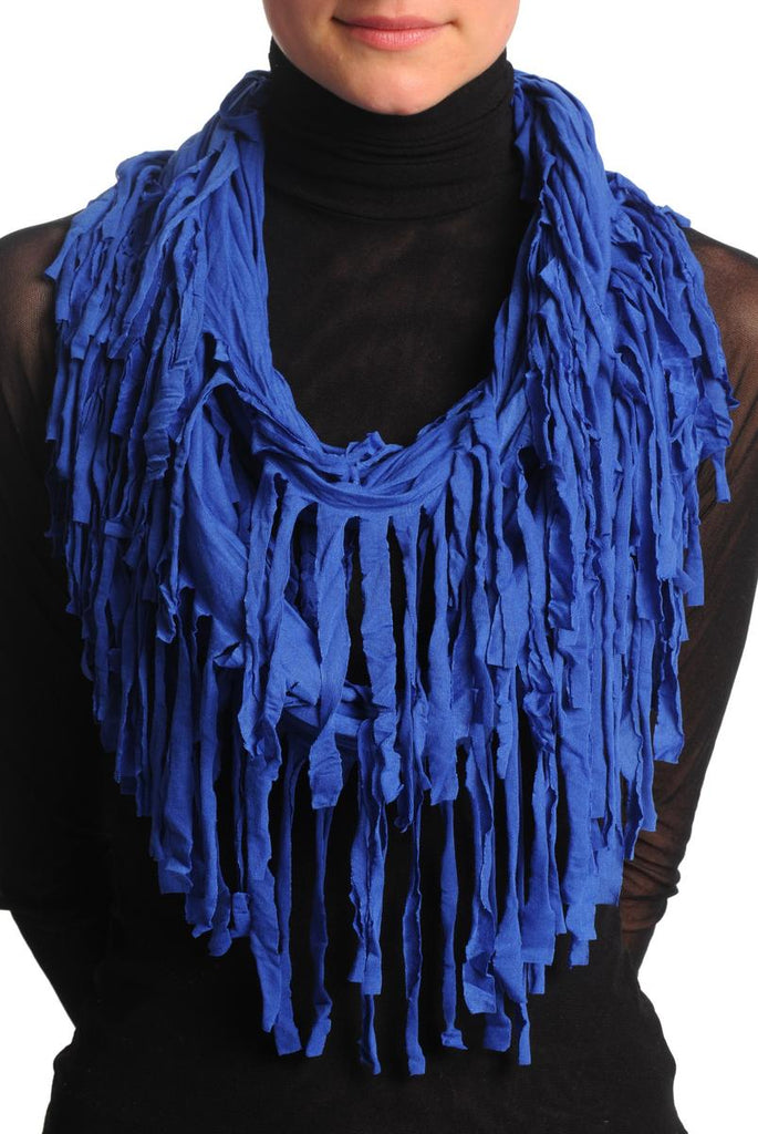 Persian Blue With Tassels Snood Scarf