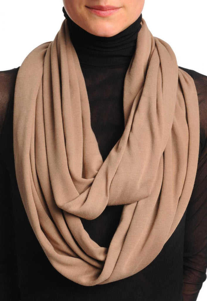 Mocha Soft Cotton Snood Scarf