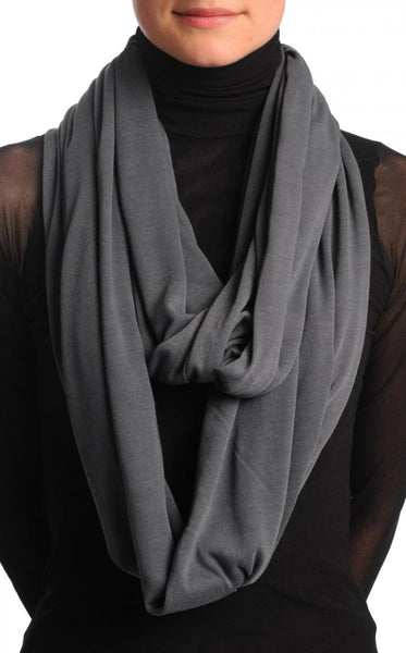 Grey Soft Cotton Snood Scarf