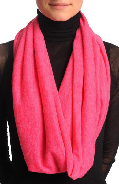 Cerise Pink Woolly Snood Scarf