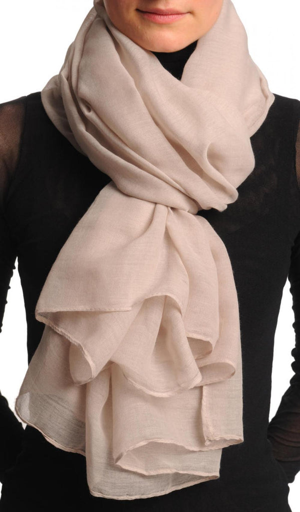Plain Light Grey Unisex Scarf & Beach Sarong