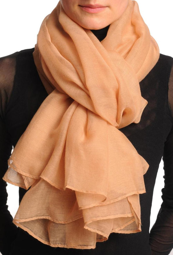 Plain Sandy Brown Unisex Scarf & Beach Sarong
