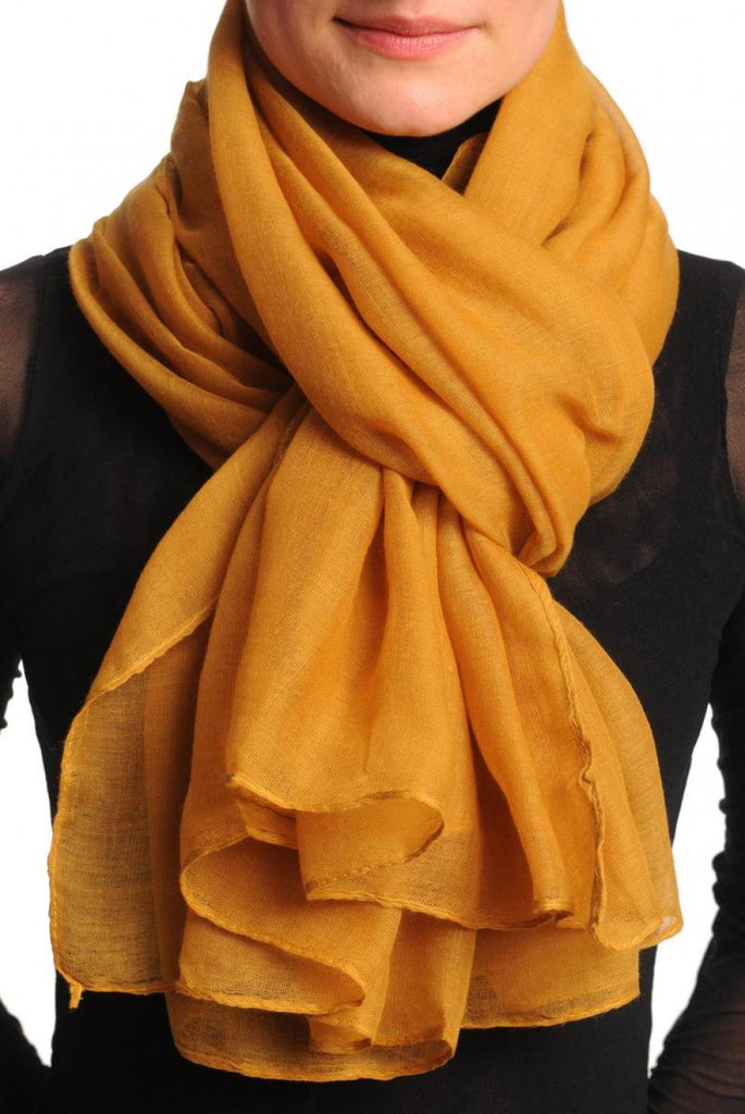Plain Ochre Brown Unisex Scarf & Beach Sarong
