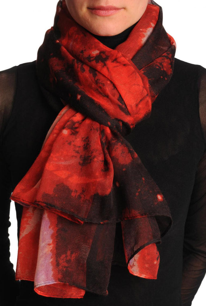 Red Galaxy Unisex Scarf & Beach Sarong