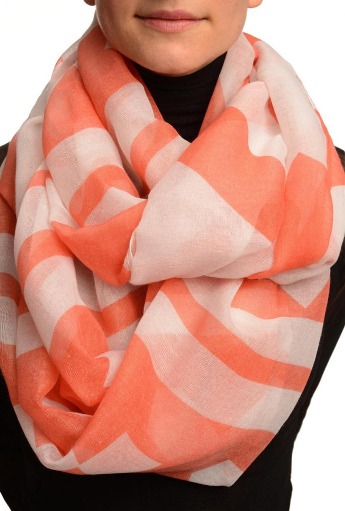 Extra Large Red Geometrical Pattern Mix Snood Scarf SF002689