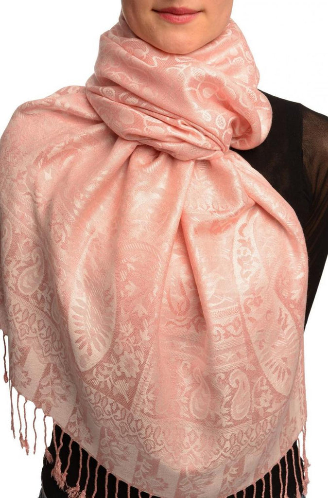 Dots On Terracotta Pashmina Feel With Tassels
