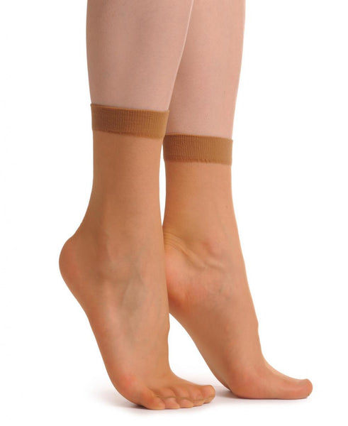 2 x Nude Socks Ankle High 15 Den