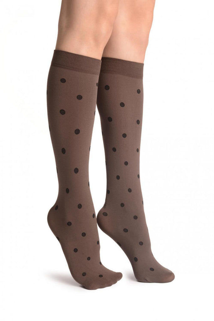 Black Polka On Mocha