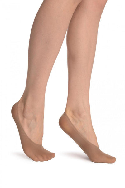 Beige Invisible 20 Den Footsies Socks