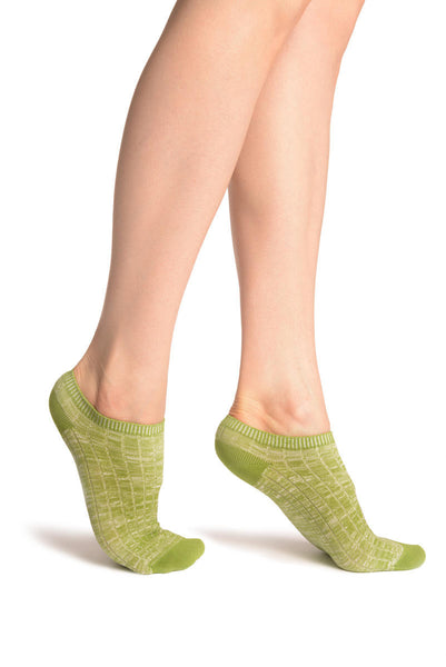 Asparagus Green Melange Footies