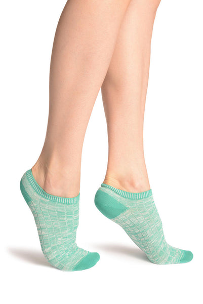 Persian Green Melange Footies