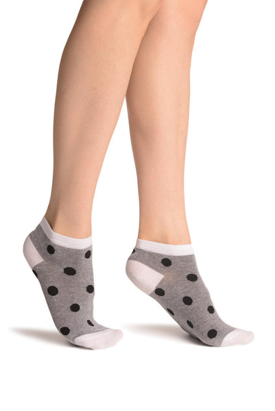 Polka Dots On Grey Footsies