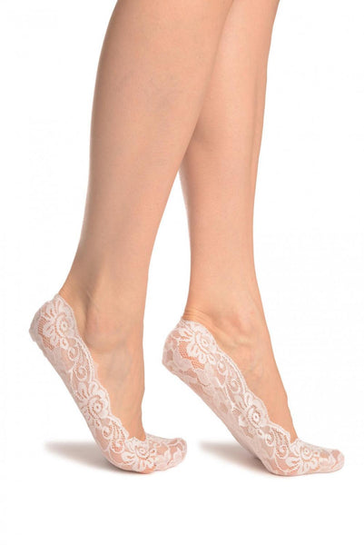 White All Over Floral Lace Footies