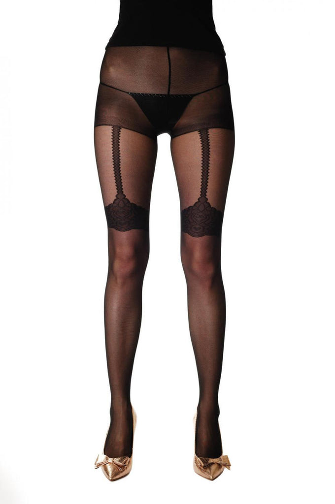 Lace Garter With Suspender Belt