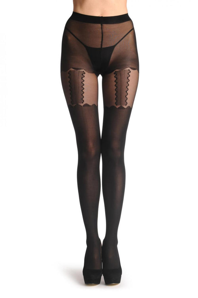 Rounded Shorts & Front Rounded Suspender Belt