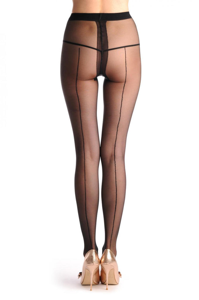 T000359 Transparent Black With Opaque Black Seam At The Back