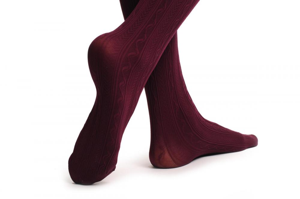 T000662 Soft Burgundy With Woven Burlesque Stripes