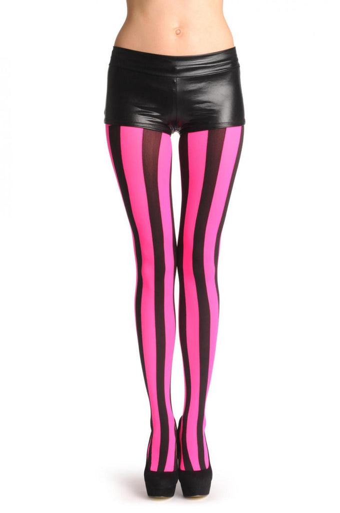 Bright Pink & Black Stripes